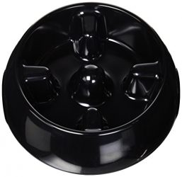 Dogit Go Slow Anti-Gulping Dog Bowl, Black, Large