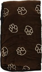 Guardian Gear Pawprint Single Car Seat Covers — Polyester Car Seat Covers for Dogs, Chocolate
