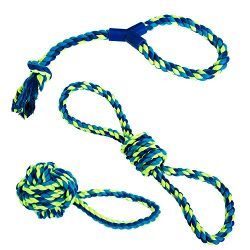 Franklin Pet Supply Dog Rope Toy – 3 Pack of Puppy Rope Toys for Chewing, Tug-of-War, Fetch – Durable – Non-Toxic Dental Chew Toy Rope – Dog Teething – Pet Chew Toy