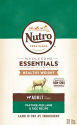 Nutro Wholesome Essentials Healthy Weight Adult Dry Dog Food Pasture-Fed Lamb & Rice Recipe, 30 Lb. Bag