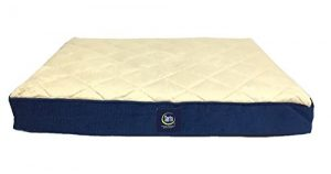 Serta Ortho Quilted Pillowtop Pet Bed, Large, Navy