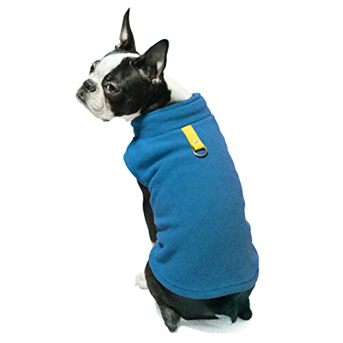 Gooby – Fleece Vest, Small Dog Pullover Fleece Jacket with Leash Ring, Deep Blue, Large
