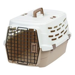 IRIS USA, Inc. UPC-580 Easy Access Pet Travel Carrier, Medium, Off-White/Brown