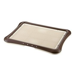 Richell Paw Trax Mesh Training Tray, Brown