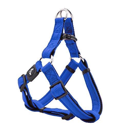 KRUZ PET KZA201-02M Fully Adjustable Step-in Puffy Mesh Harness, Medium