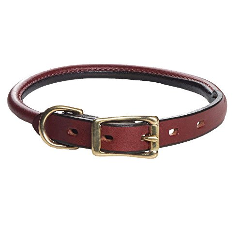 Mendota Products ME13318 Pet Standard Rolled Dog Collar, 3/4″ by 18″, Chestnut