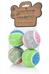 Greenbone Wonderpet! Tennis Ball Toys, 2.5″, 4 Pack