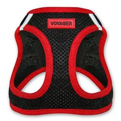 Voyager All Weather No Pull Step-in Mesh Dog Harness with Padded Vest, Best Pet Supplies, Small, Red