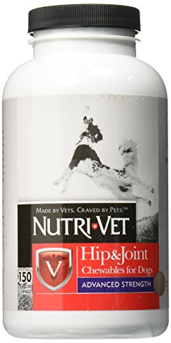Nutri-Vet Hip & Joint Chewable for Dogs, Advanced Strength 150 count