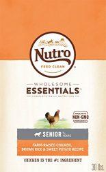 Nutro Wholesome Essentials Senior Dry Dog Food Farm-Raised Chicken, Brown Rice & Sweet Potato Recipe, 30 Lb. Bag