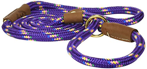 Mendota Products Slip Lead,  1/2″ X 6′, Purple Confetti, Dogs
