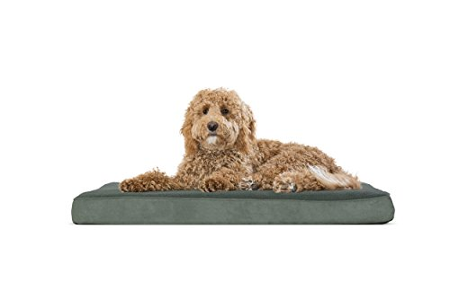 FurHaven Pet Dog Bed | Deluxe Orthopedic Terry Fleece Mattress Pet Bed for Dogs & Cats, Forest, Large