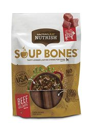 Rachael Ray Nutrish Soup Bones Dog Treats, Real Beef & Barley Flavor, 12.6 Oz. Bag