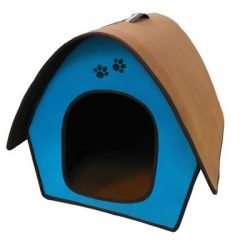 Penn Plax ZH3 Dog Zipper House with Curved Roof, Blue