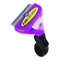 Furminator 10730 Long Hair Deshedding Tool for Cats, Large