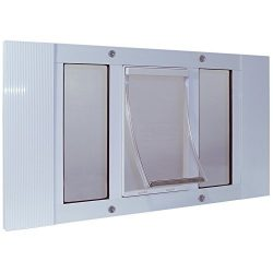 Ideal Pet Products 33SWDXL Aluminum Sash Window Pet Door, X-Large/10.5″ x 15″, White