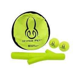 Hyper Pet Interactive Dog Toys Variety Pack [Includes Flippy Flopper Dog Frisbee, Hyper Chewz Stick Dog Fetch Toy, Tennis Balls for Dogs (2 Pack)]