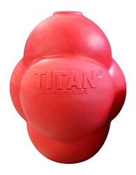 Titan Busy Bounce Tough Durable Treat Dispensing Dog Toy with Unpredictable Bounce, Medium