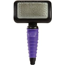 Master Grooming Tools Ergonomic Slicker Brushes — Durable, Lightweight Brushes for Grooming Dogs and Cats – Medium, Purple
