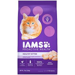 Iams Proactive Health Healthy Kitten Dry Cat Food With Chicken, 7 Lb. Bag
