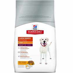 Hill'S Science Diet Adult Light Dog Food, Large Breed Chicken Meal & Barley For Weight Management, Dry Dog Food, 33 Lb Bag