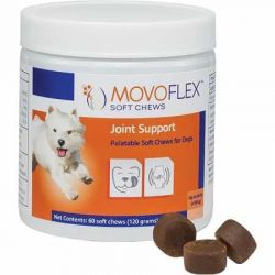 MoVoFlex Joint Support Chews for Small Dogs – Gluten Free – One Chew A Day – Help Hip Dysplasia & Discomfort – 60 Soft Chew Treats