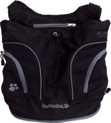FouFou Dog Poochy Pouch, Black, Medium