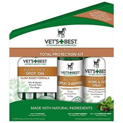 Vet's Best Complete Flea and Tick Protection Kit, 3 Piece Set