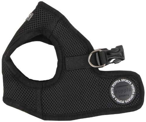 Puppia Soft Vest Dog Harness – Black – X-Large