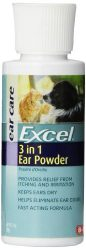 Excel 3-in-1 Ear Powder For Dogs And Cats, 1 Ounce, For Relief From Itching