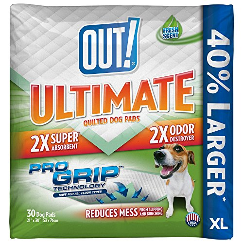 OUT! Ultimate Pro-Grip XL Dog and Puppy Pads, Extra Large – 30-Count