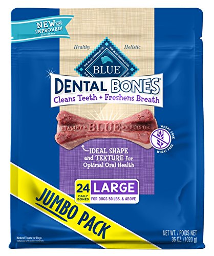 Blue Buffalo Dental Chew Dog Treats Large Dental Bones 36Oz