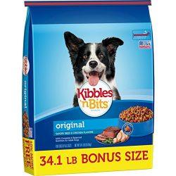 Kibbles 'N Bits Original Savory Beef & Chicken Flavors Bonus Bag Dry Dog Food, 34.1 Lb