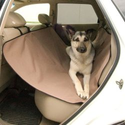 K&H Pet Products Car Seat Saver Tan – Pet Seat Cover Protector