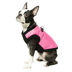Gooby – Fashion Vest, Small Dog Sweater Bomber Jacket Coat with Stretchable Chest, Pink, Medium