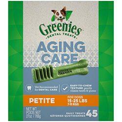 GREENIES Aging Care Petite Size Dental Dog Treats, 27 oz. Pack
