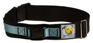 Squishy Face Studio Hands Free Dog Leash Belt, Small/Medium, Ocean Blue