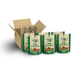 Greenies Pill Pockets Soft Dog Treats, Peanut Butter, Capsule, 7.9 Oz. (Pack Of 6)