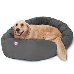 Majestic Pet 40″ Gray Bagel Dog Bed