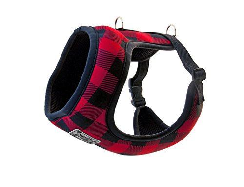 RC Pet Products Cirque Soft Walking Dog Harness, Small, Red Buffalo