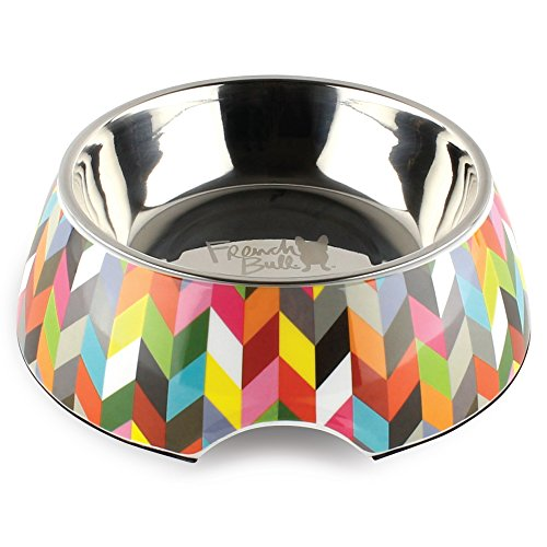 French Bull 24 oz. Pet Bowl, 2 Piece – Dog, Cat, Feeder, Nonslip, Stainless Steel, Raised – Ziggy