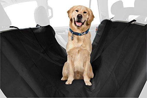 ASPCA Water Resistant Pet Car Seat Cover & Free Travel Bowl, Black
