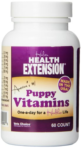 Health Extension Lifetime Vitamins for Puppies and Dogs, 60-count