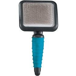 """Master Grooming Tools Ergonomic Slicker Brushes — Molded Brushes for Grooming Dogs – Large, 4″ x 3½"""""""