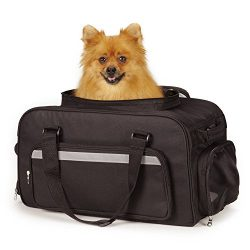East Side Collection On-the-Go Carry-On Bags — Convenient and Versatile Carriers for Small Dogs and Cats, Black