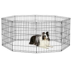New World Pet Products B552-30 Foldable Exercise Pet Playpen, Black, Medium/24″ x 30″