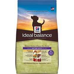 Hill'S Ideal Balance Senior Natural Dog Food, Mature Adult 7+ Chicken & Brown Rice Recipe Dry Dog Food, 30 Lb Bag
