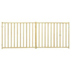 MidWest Extra-Wide Swing Pet Safety Gate, Expands 50.25 – 94″ Wide, 24″ Tall