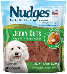 Nudges Health and Wellness Chicken Jerky Dog Treats, 36 oz