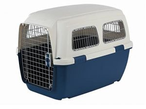 Marchioro Clipper Ithaka 4 Pet Carrier, 27.75-inches, Tan/Blue